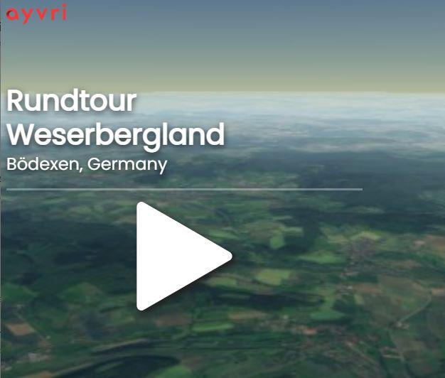 Weserberglandtour Motorrad virtuell abfahren